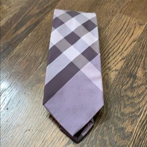 Burberry London lavender purple silk tie